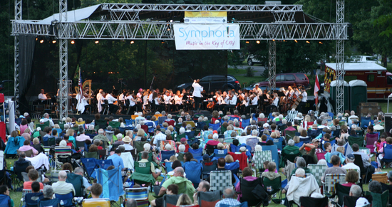 Symphoria performs at Beard Park in Fayetteville, NY, Summer 2014Photo credit: Marc Ramos