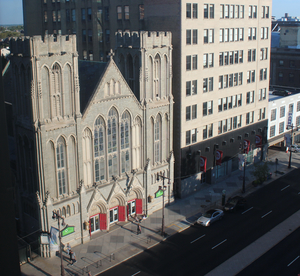Broad Street Ministry seen from the Kimmel Center