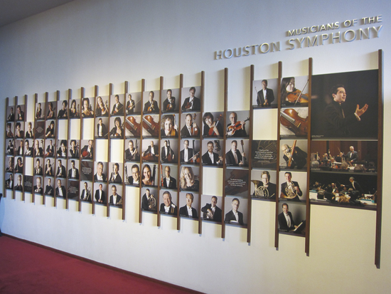 The Houston Symphony Portrait wall