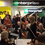 #WePlayOn musicians at the London Ontario airport