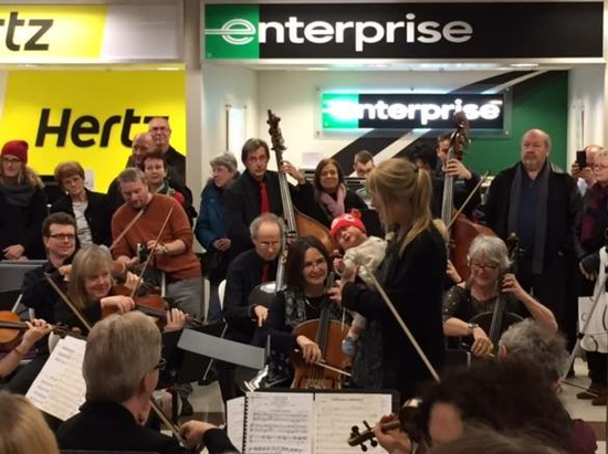 #WePlayOn musicians at London Ontario Airport