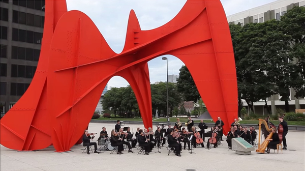 Still from Grand Rapids Symphony Musicians Association video Photo credit: Courtesy of the Grand Rapids Symphony Musicians Association